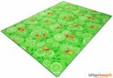 Kinderteppich Tiere grün