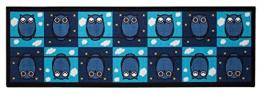 Andiamo 282586 Kinderteppich Emil die Eule, 57 x 180 cm, blau / türkis - 1