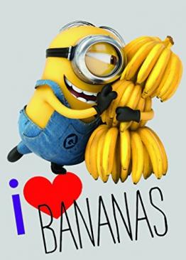 Associated Weavers 626592 Minions Love Bananas - 133 x 95 x 2 cm - 1