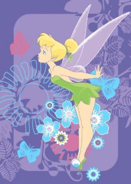 Associated Weavers FA02 Disney Fairies Tink Tropical Teppich 95 x 133 cm - 1