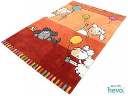 Ballon rot HEVO ® Handtuft Teppich | Kinderteppich | Spielteppich 110x170 cm Öko Tex 100 - 1