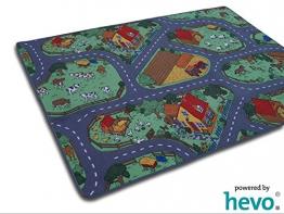 Bauernhof Teppich HEVO ® Kinder Strassen Spielteppich | Kinderteppich 145x200 cm - 1
