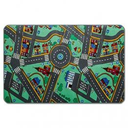 casa pura® Komfort Spielteppich Stadtleben | waschbarer Kinderteppich mit Häusern und Straßen | in 4 Größen erhältlich (140 x 200 cm) - 1