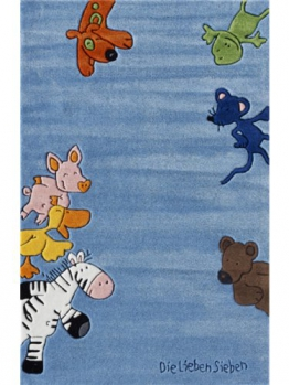 Die lieben Sieben Kinderzimmer Kinderteppich Happy Friends Multicolor 70x140 cm - 1
