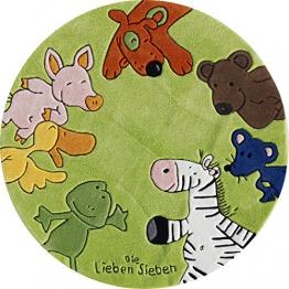 Die Lieben Sieben LS -2195-01R Kinderteppich 130 cm, rund - 1