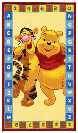 Disney Kinderteppich Spielteppich Winnie Puuh / Winnie the Pooh und Tigger Abc gold 80 x 140 cm - 1