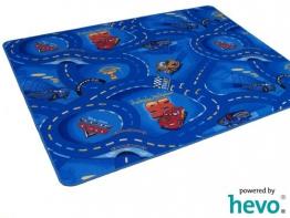 Disney Pixar World of Cars blau HEVO Strassen Spielteppich 145x200 cm - 1