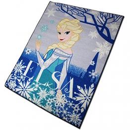Disney Spielteppich - Kinderteppich - Teppich - Läufer 133x95cm mit Motivauswahl (Frozen Elsa) - 1