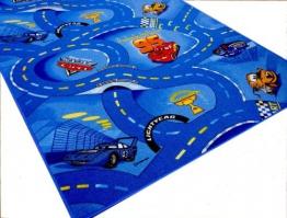 Disney World of Cars Blau Pixar Strassen Spielteppich, 145x200 cm - 1