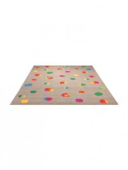 Esprit Teppiche Kinderzimmer Kinderteppich Funny Dots Multicolor 80x150 cm / Prüfsiegel: Oeko-Tex Standard 100-Siegel / Flormaterial: 100% Polypropylen / Florhöhe: 11 bis 20 mm / Motiv/Design: Geometrisch / Herstellungsart:Maschinengewebt / Wohnraum: Kinderzimmer - 1