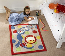 Flair Rugs Teppich Kiddy play Jungle mehrfarbig Kinder Teppich 80 x 100 cm - 1