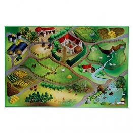 Floori® Spielmatte Auf dem Land | Bauernhof | Phthalat-frei | erweiterbar zu einer riesigen Spiellandschaft | 100 x 150 cm - 1