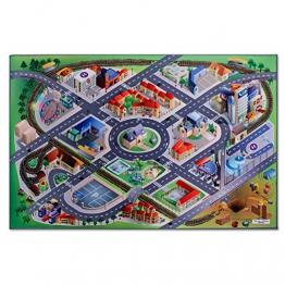 Floori® Spielmatte In der City | Straßen und Häuser | Phthalat-frei | erweiterbar zu einer riesigen Spiellandschaft | 100 x 150 cm - 1