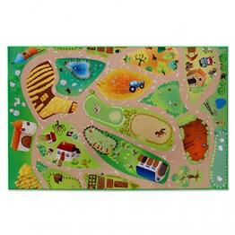 Floori® Spielmatte Unsere Farm | Bauernhof mit Tieren | Phthalat-frei | in 2 Größen (100 x 150 cm) - 1