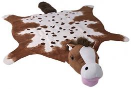 Goldie XXL flauschiger Kinderteppich fürs Kinderzimmer Pferd in Tierform fast schon ein Kuscheltier Farbe (70 Braun) - 1