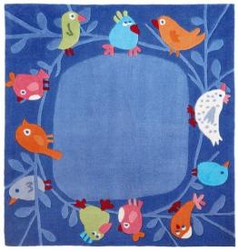 Haba 8645 - Teppich Vögelchen 140 x 140 - 1