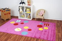 Havatex: Kinderteppich Kiddy Animaldots pink / Prüfsiegel: ÖkoTex / Flormaterial 100% Heatset Friese / In Verschiedenen Größen erhältlich - 1