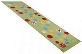 Havatex: Kinderteppich Läufer Animaldots grün in 80 x 250 cm / Prüfsiegel: ÖkoTex / Flormaterial 100% Heatset Friese - 1