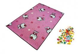 Hello Kitty Spielteppich Lernteppich Kinderspielteppich Teppich + 1 GRATIS ZUGABE (100 x 150 cm) - 1