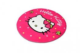 Hochwertiger Kinderteppich Hello Kitty 70cm rund K9693-01 - 1