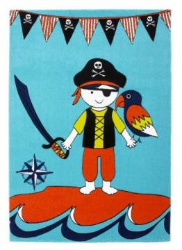 Kinder Spiel Teppich Paradiso Pirat in 3 Größen - 1