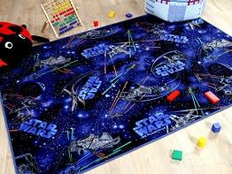 Kinder Spiel Teppich STAR WARS Blau in 24 Größen - 1