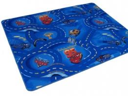 Kinder Spiel Teppich Walt Disney Cars Auto Blau 200x200 cm - 1