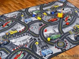 Kinder Spielteppich Disney Cars Grau in 24 Größen, Größe:160x200 cm - 1