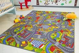 Kinder Teppich City - Straßen und Spiel Teppich, 140x200 cm - 1
