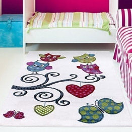 Kinderteppich eule rosa  Top 30 Eulen Teppiche - Kinder-Teppich.net