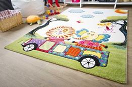 Kinder Teppich Modena Kids Tiere on Tour - Bunt Öko-Tex zertifizierter Kinderteppich, Größe 150x220 cm - 1