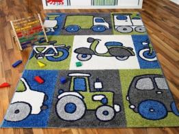 Kinder und Spielteppich Softstar Motors Blau in 3 Größen - 1