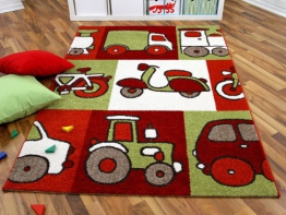 Kinder und Spielteppich Softstar Motors Rot in 3 Größen - 1