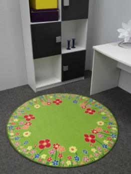 Kinderteppich Blumenwiese 200 cm rund - 1