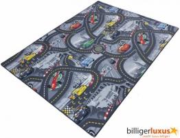 Kinderteppich Disney CARS Teppich Straßen Spielteppich 3 Farben 3 verschiedene Größen (grau, 120x180 cm) - 1