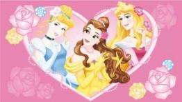 # Kinderteppich Disney Prinzessin Herz rosa 170x100cm - 1