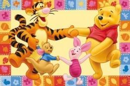 # Kinderteppich Disney Winnie Puuh Freunde Tanz 170x100cm - 1
