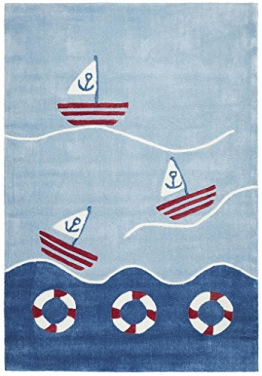 Kinderteppich Happy Rugs AUF HOHER SEE 2 blau 120x180cm - 1