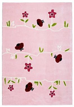 Kinderteppich Happy Rugs BLUMENWIESE rosa 120x180cm - 1