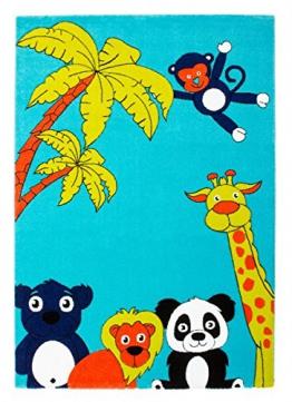 Kinderteppich Lifestyle in Aqua/Grün Teppich Größe: 80 cm x 150 cm - 1