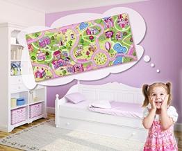 Kinderteppich Mädchen Straßenteppich Sweet Town vers. Größen, Größe:150x200 cm - 1
