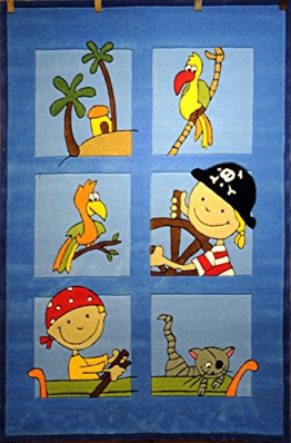 Kinderteppich Pirat MH-3539-01 110 x 170 cm Blau - 1