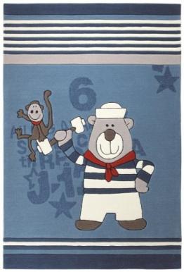 Kinderteppich Sigikid Olaf Laola Crew blau 140x200 cm - 1