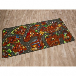 Kinderteppich Spielteppich BAUSTELLE - 0,95 x 2,00 - 1