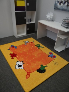 Kinderteppich Tiere gelb 160 x 240 cm - 1