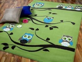 Kinderteppich eule grün  Top 30 Eulen Teppiche - Kinder-Teppich.net
