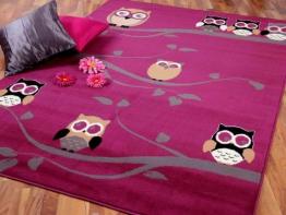 Kinderteppich eule rosa  Top 30 Kinderteppich Eule - www.Kinder-Teppich.net