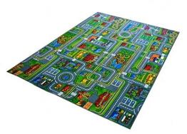 Kleine Stadt Spielteppich Kinder Strassenteppich Teppich, 300x200 cm - 1