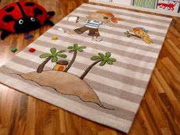 Lifestyle Kinderteppch Pirateninsel Beige !!! Sofort Lieferbar !!! - 1