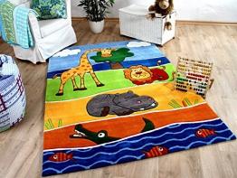 Lifestyle Kinderteppich Afrika Tierwelt Blau in 3 Größen !!! Sofort Lieferbar !!! - 1